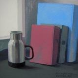 Натюрморт с голубой книгой. Орг., акрил. 50 х 50 см. 2013