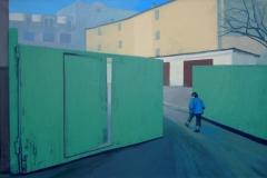 Ворота во двор. Холст, акрил. 80 х 120 см. 2012