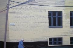 Мимо старой гимназии. Холст, акрил. 61 х 67 см. 2013