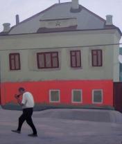 Дом в Ельце. Холст, акрил. 67 х 70 см. 2013