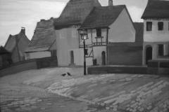 Дома в старом городе. Картон, гуашь. 50 х 70 см. 2008