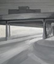 Туннель с часами. Холст, акрил. 40 х 60 см. 2009