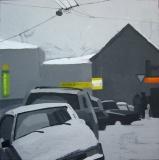 Московский переулок. Картон, гуашь. 40 х 40 см. 2006. Частная коллекция