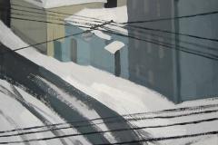 Московская улица зимой. Картон, гуашь. 40 х 40 см. 2005