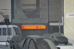Döner 1.99. Картон, гуашь. 45 х 55 см. 2005