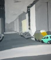 Forsthofstrasse.  Картон, гуашь. 50 х 60 см. 2008