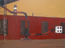Старая фабрика. Орг., акрил. 30 х 40 см. 2012