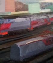 Железнодорожный этюд. Холст, масло. 50 х 60 см. 2019