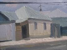 Улица 9 Декабря. Холст, масло. 18 х 24 см. Елец 2016