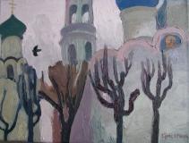 Этюд в Троице-Сергиевой лавре (1). Холст, масло. 30 х 40 см. 2015