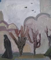 Этюд в Троице-Сергиевой лавре (2). Холст, масло. 30 х 40 см. 2015
