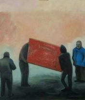 Красная дверь. Холст, масло. 50 х 60 см. 2017