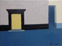 Дверь и ниша.  Х. м., 18 х 24 см. 2020