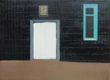 Белая дверь.  Х. м., 18 х 24 см. 2020