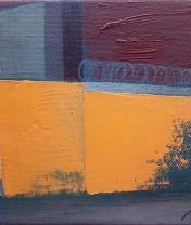 Переулок с желтой стеной. Х. м., 18 х 24 см. 2019